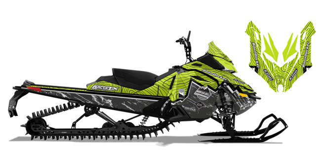 Matt Entz Skidoo Rev-XM Entz Frontier Sled Wrap Design
