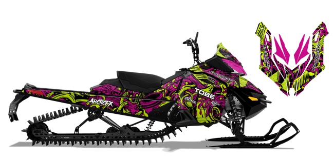 Kim Onasch Skidoo Rev-XM Kim Onasch Fueled Sled Wrap Design