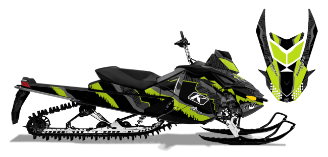Dan-adams Skidoo Rev-XP adams alpine Sled Wrap Design