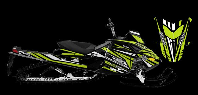 Chris Burandt Skidoo Rev-XP Burandt Evolution Sled Wrap Design