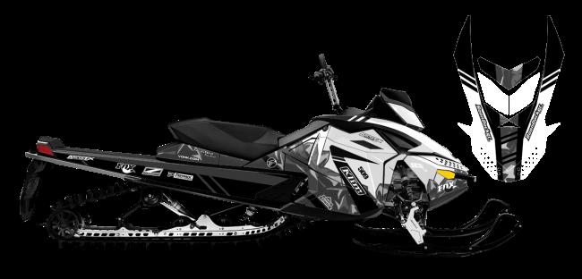 Chris Burandt Skidoo Rev-XP burandt vista Sled Wrap Design