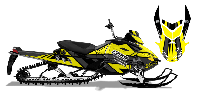 Keith Curtis Skidoo Rev-XP Curtis Mountain King Sled Wrap Design