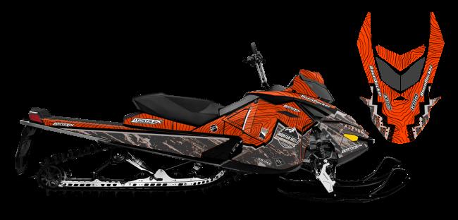 Matt Entz Skidoo Rev-XP Entz Frontier Sled Wrap Design