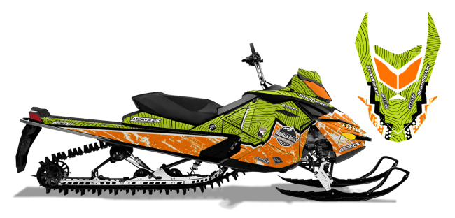 Matt Entz Skidoo Rev-XP Entz Frontier Sled Wrap Design