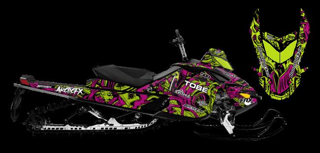 Kim Onasch Skidoo Rev-XP Kim Onasch Fueled Sled Wrap Design
