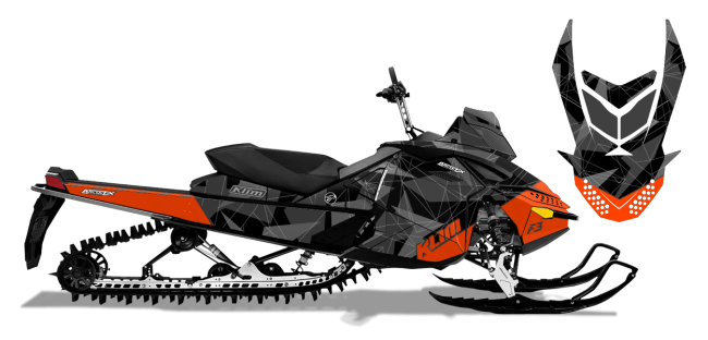 Klim Skidoo rev-xp Klim F3 Camo Wrap Design