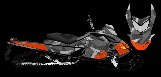 Klim Skidoo rev-xp Klim F3 Camo Wrap Design