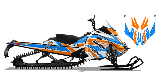 Keith Curtis Skidoo Rev-XS Curtis Mountain King Sled Wrap Design