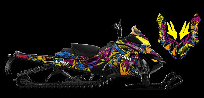 Kim Onasch Skidoo Rev-XS Kim Onasch Fueled Sled Wrap Design